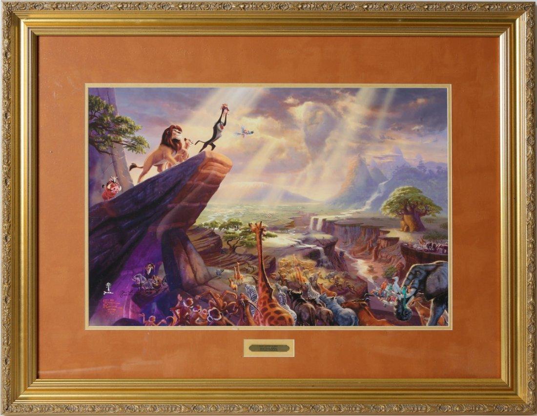 THOMAS KINKADE THE LION KING FRAMED LE PRINT COA