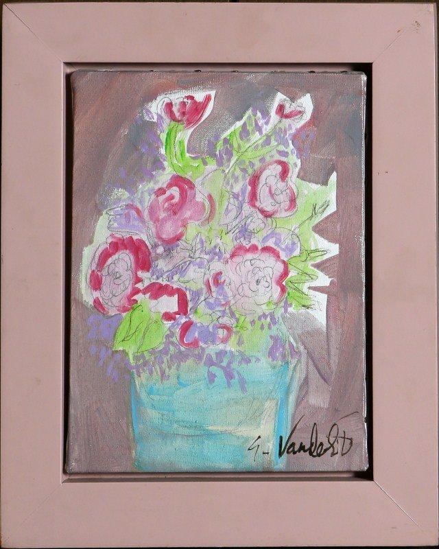GLORIA VANDERBILT FLOWERS FOR RAPHAEL ORIGINAL OIL