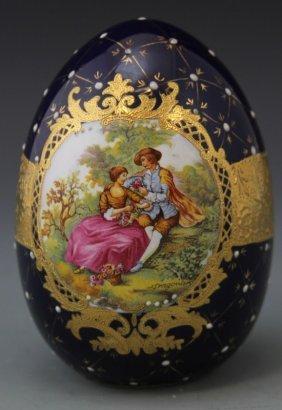 Large Limoges Porcelain Egg