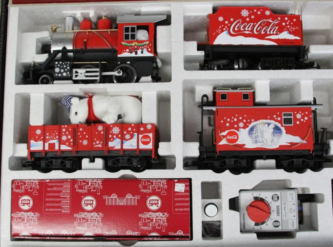 LGB COCA COLA POLAR EXPRESS TRAIN SET