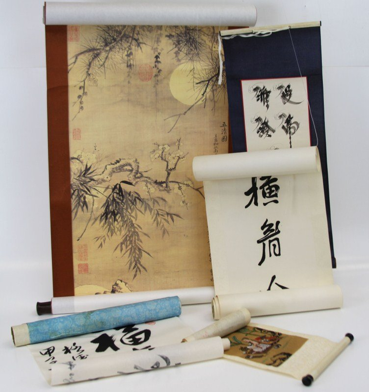 (5) MISCELLANEOUS ASIAN SCROLLS