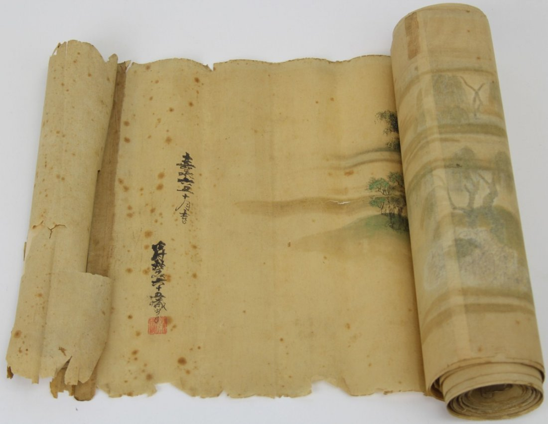 EXTRA LARGE JAPANESE SCROLL ON LAID PAPER