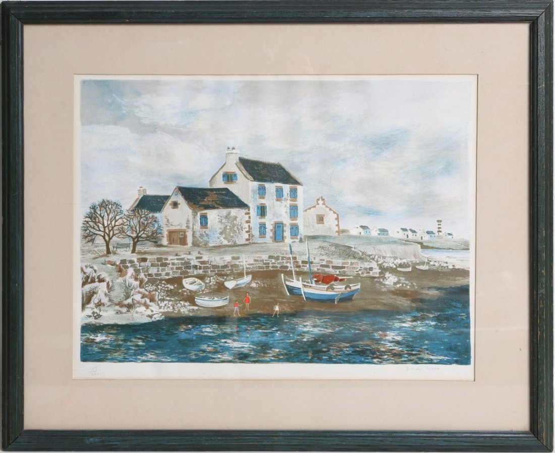 LIMITED EDITION BRENDA NOBLE SEASIDE PRINT SIGNED