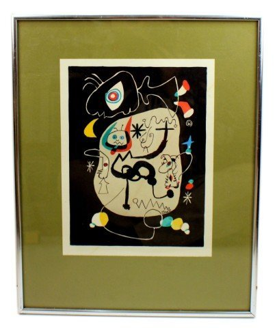 JOAN MIRO - FRAMED SCREEN PRINT SIGNED