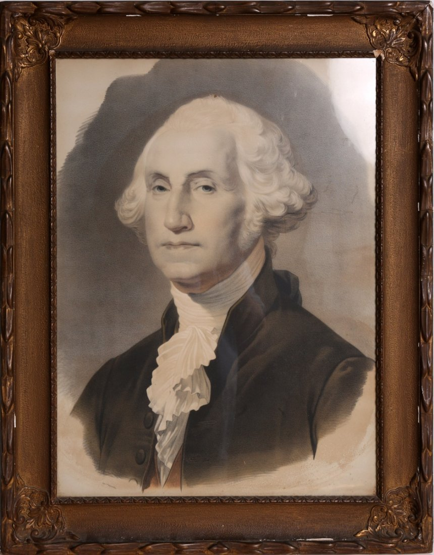 BERNARD ROMAIN JULIEN GEORGE WASHINGTON LITHO