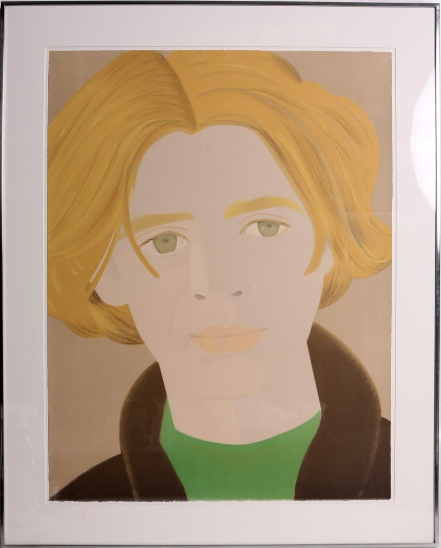 ALEX KATZ HOMAGE TO FRANK O HARA LITHOGRAPH