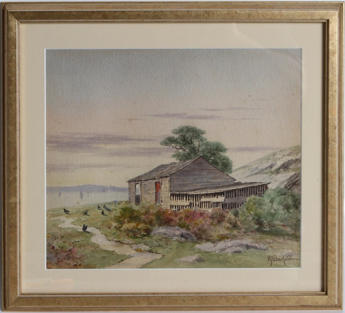 WILLIAM NEWTON BARTHOLOMEW 19TH CENTURY WATERCOLOR