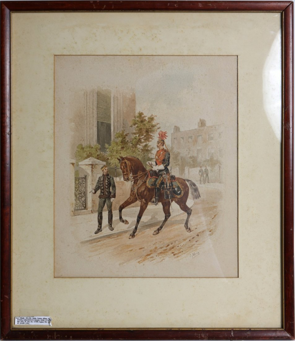 ORLANDO NORIE BRITISH 19TH CENTURY WATERCOLOR