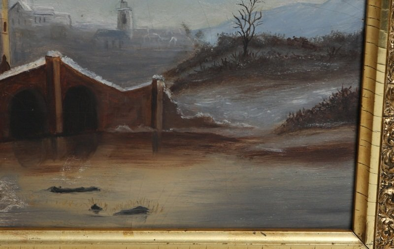 19TH C OIL PAINTING ON FROST & ADAMS ACADEMY BOARD - 3