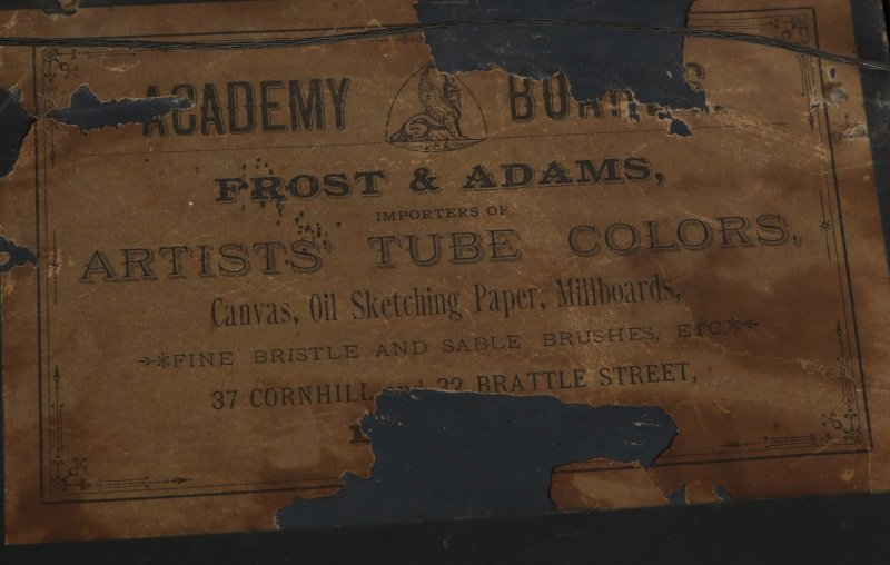 19TH C OIL PAINTING ON FROST & ADAMS ACADEMY BOARD - 4