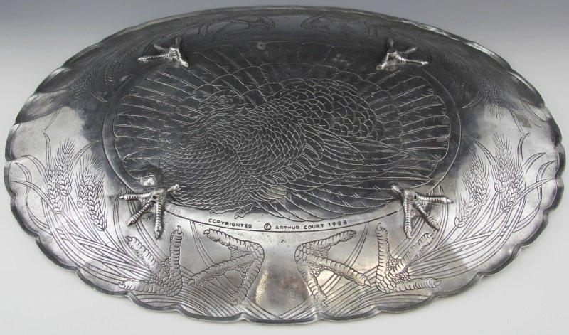 ARTHUR COURT TURKEY PLATTER WITH CARNELIAN EYE - 3