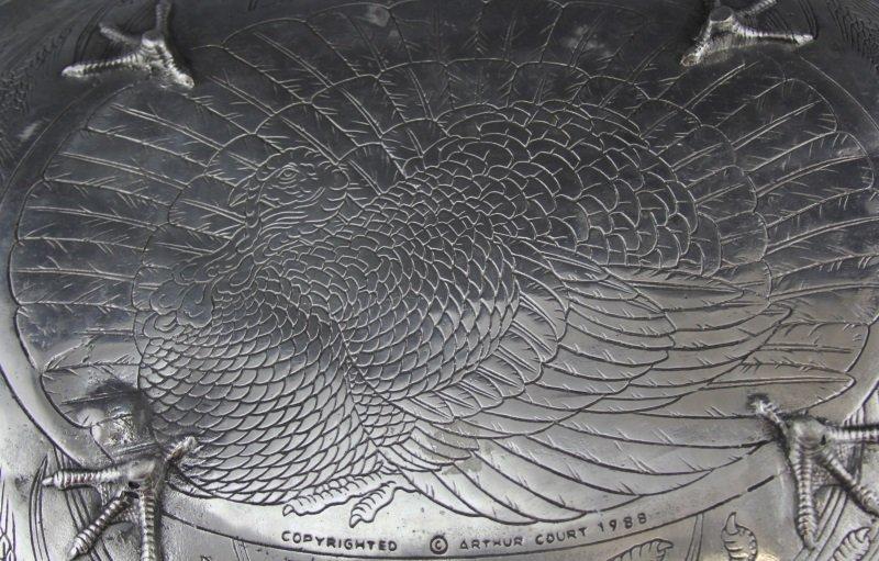 ARTHUR COURT TURKEY PLATTER WITH CARNELIAN EYE - 4