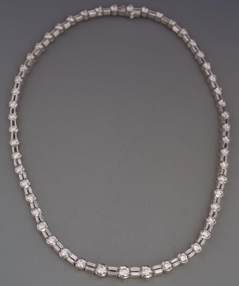 DAMIANI DESIGNER 18K WHITE GOLD DIAMOND NECKLACE
