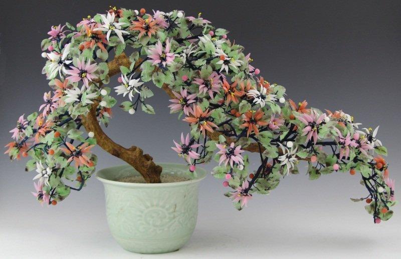 Chinese Glass Flower Tree