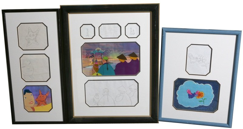(3) HAPPILY EVER AFTER LITTLE ANIMATION CELS
