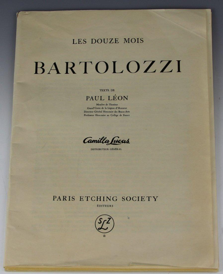 LES DOUZE MOIS BY BARTOLOZZI COLOR ETCHINGS