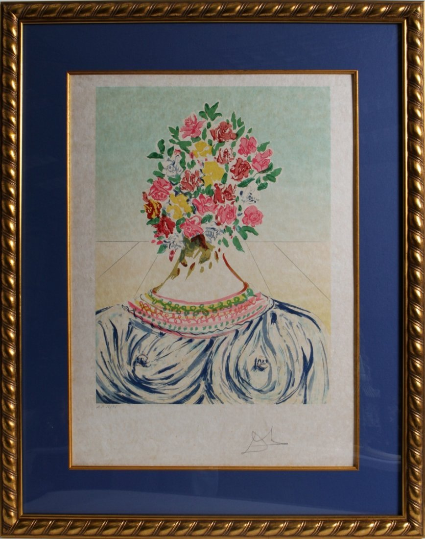 SALVADOR DALI FLOWERING OF INSPIRATION LITHOGRAPH