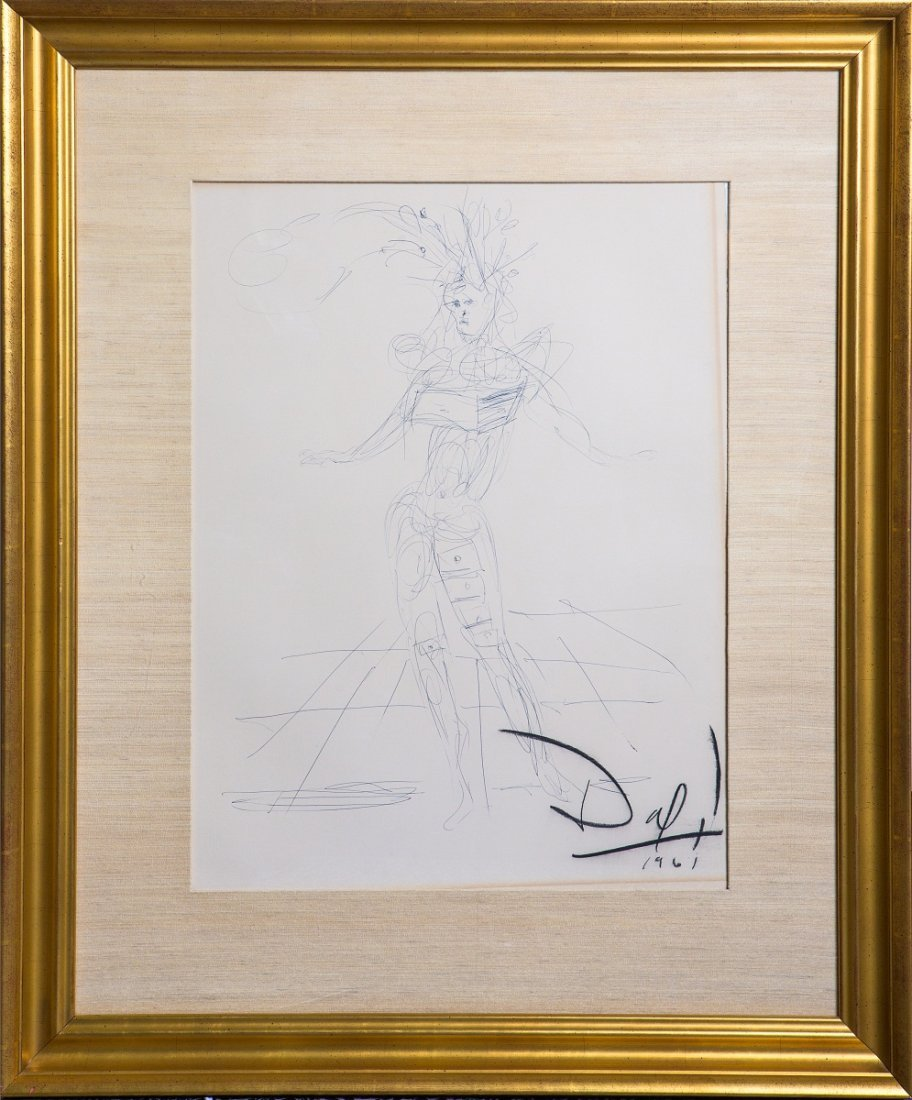 SALVADOR DALI FIGURE W/ DRAWERS BALLPOINT ARCHES