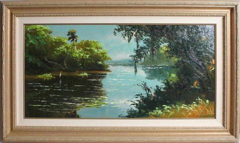 HAROLD NEWTON FLORIDA HIGHWAYMEN RIVER LANDSCAPE