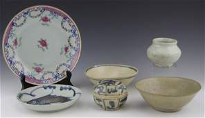 (6) PIECES OF ASIAN EARTHENWARE