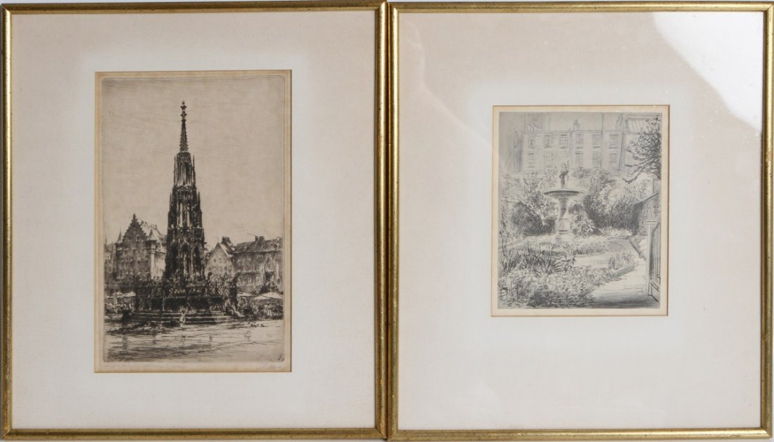 (2) 20TH CENTURY ETCHINGS / PRINTS