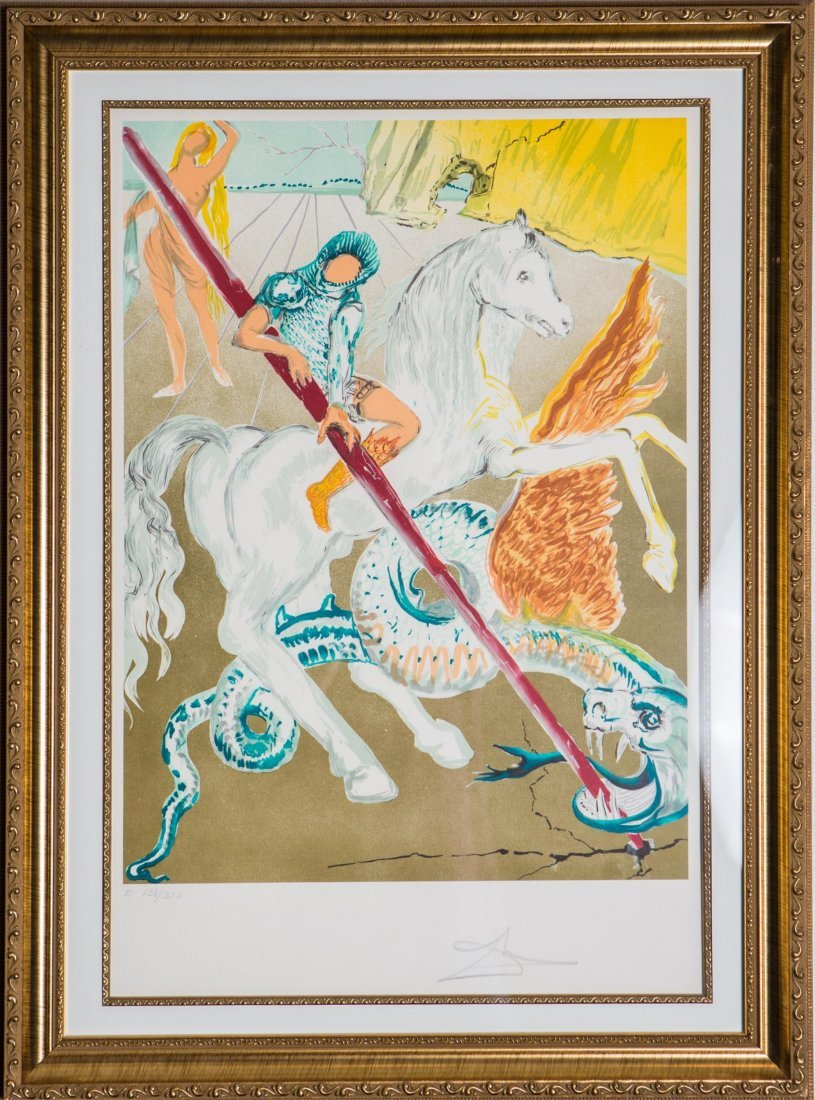 DALI THE LANCE OF CHIVALRY SIGNED LITHOGRAPH