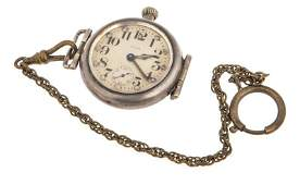 1918 STERLING SILVER ELGIN POCKET WATCH