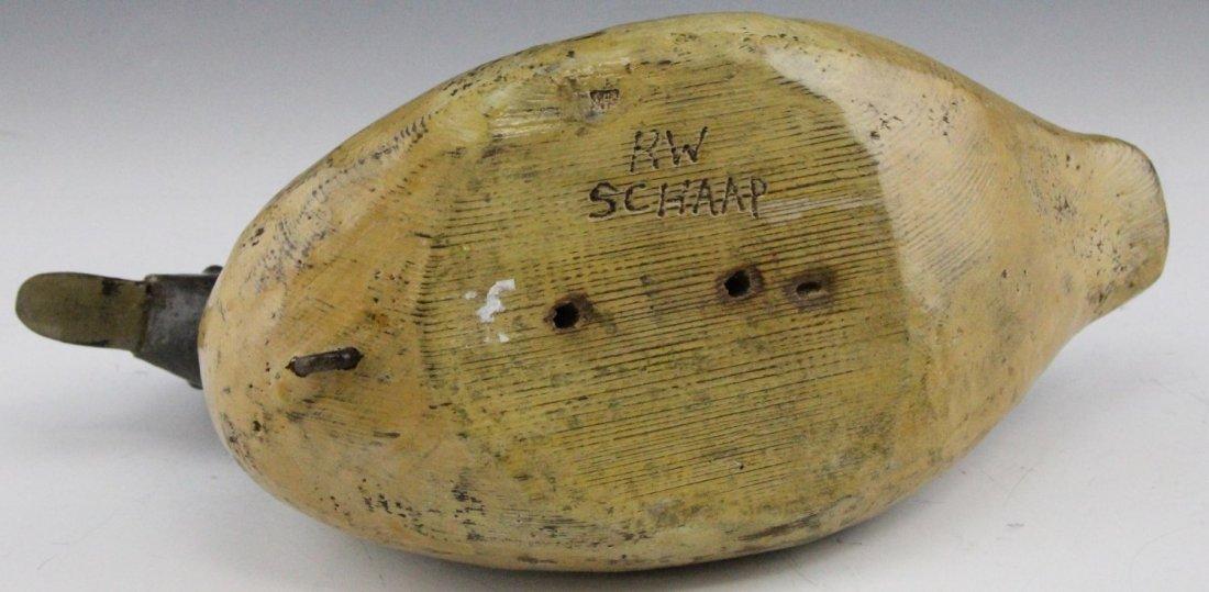 (2) R.W. SCHAAP VARNISHED DUCK DECOYS - 8