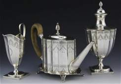 (4 PC) TIFFANY & CO PAUL REVERE STERLING TEA SET