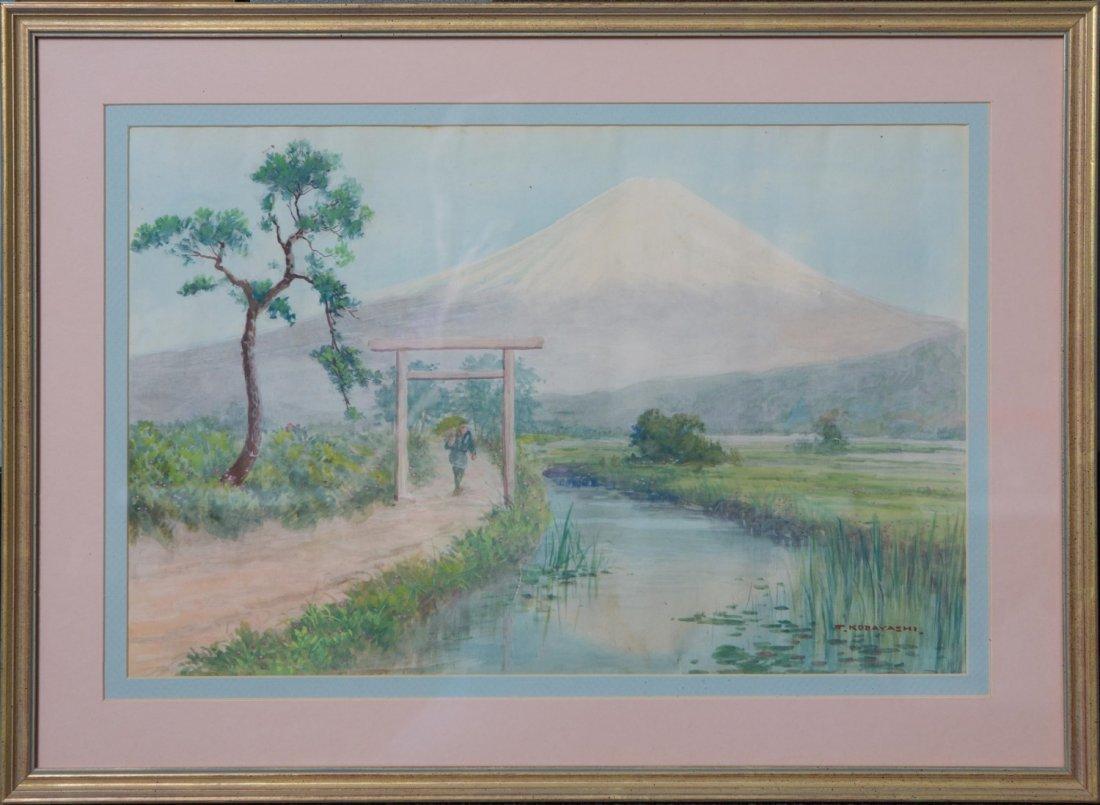 T KOBAYASHI RICE PATTY WATERCOLOR ON PAPER