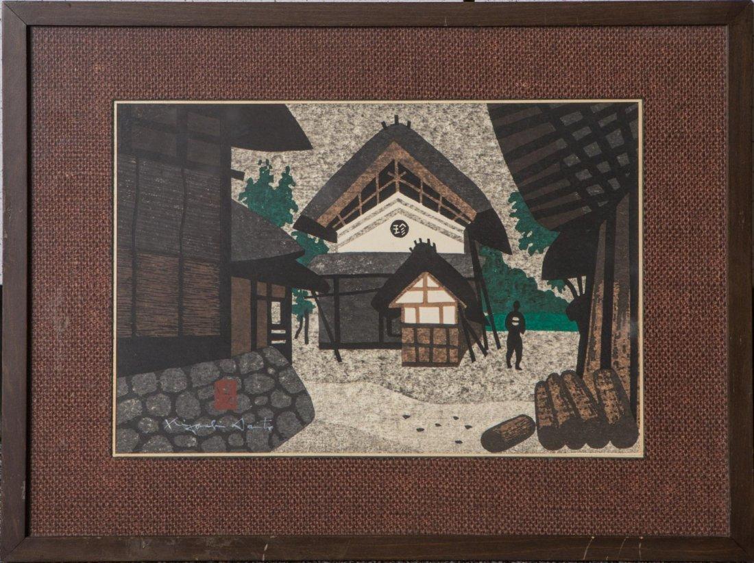 KIYOSHI SAITO JAPANESE WOODBLOCK PRINT SIGNED