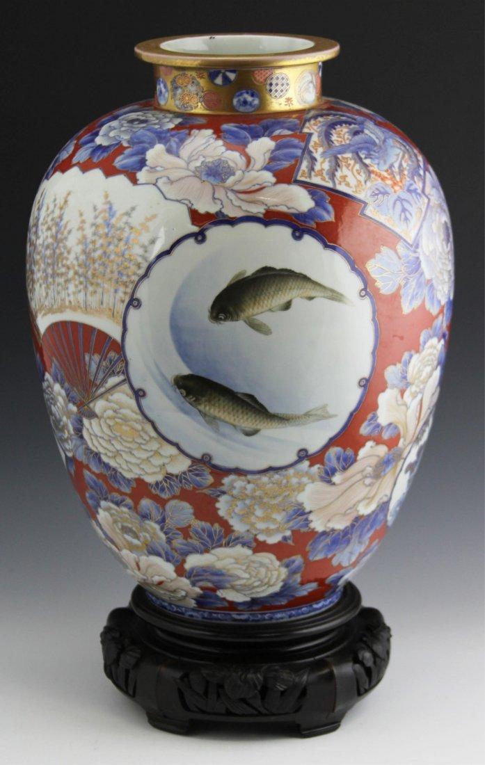 JAPANESE ARITA IMARI FUKAGAWA VASE EARLY 20TH C