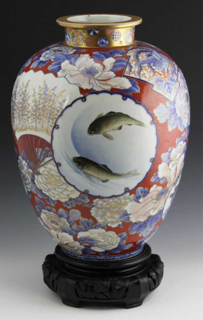 Japanese Arita Imari Fukagawa Vase Early 20th C