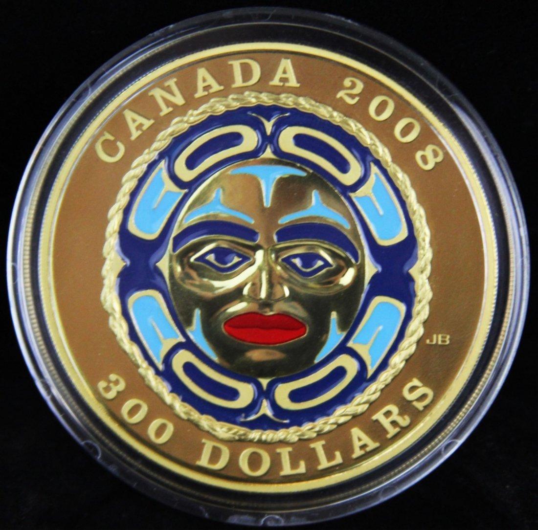 2008 $300 CANADA GOLD FOUR SEASONS MOON MASK