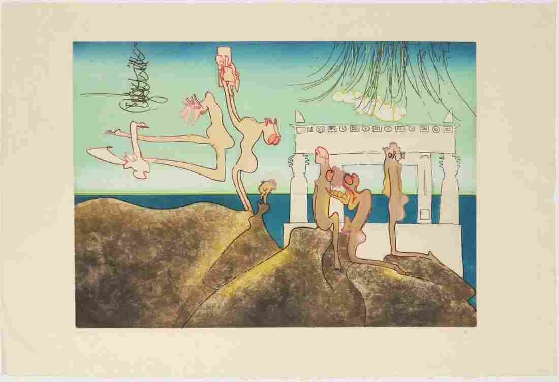 ROBERTO MATTA SIGNED COLOR ETCHING
