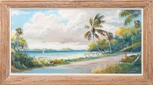 SAM NEWTON FLORIDA HIGHWAYMEN OIL ON CANVAS
