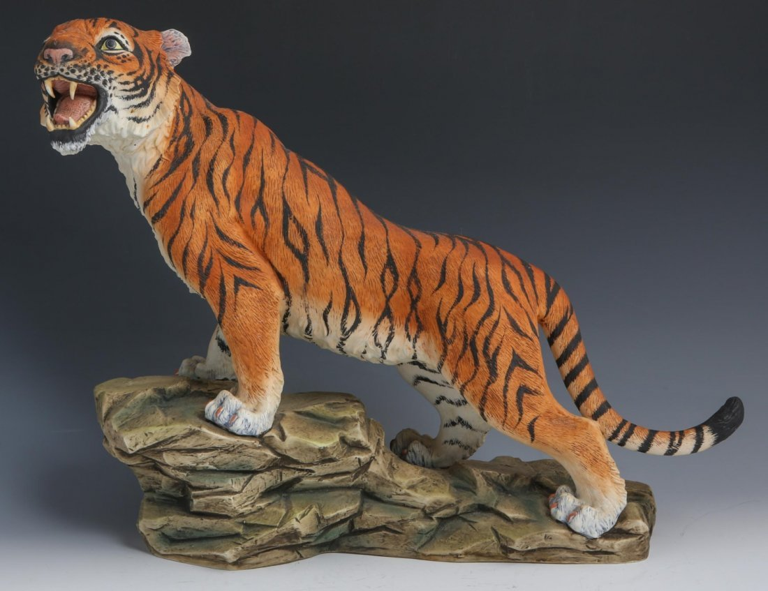 PORCELAIN BENGAL TIGER BY ANDREA FIGURE