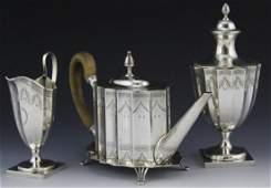 (4 PC) TIFFANY & CO PAUL REVERE STERLING SILVER TEA SET