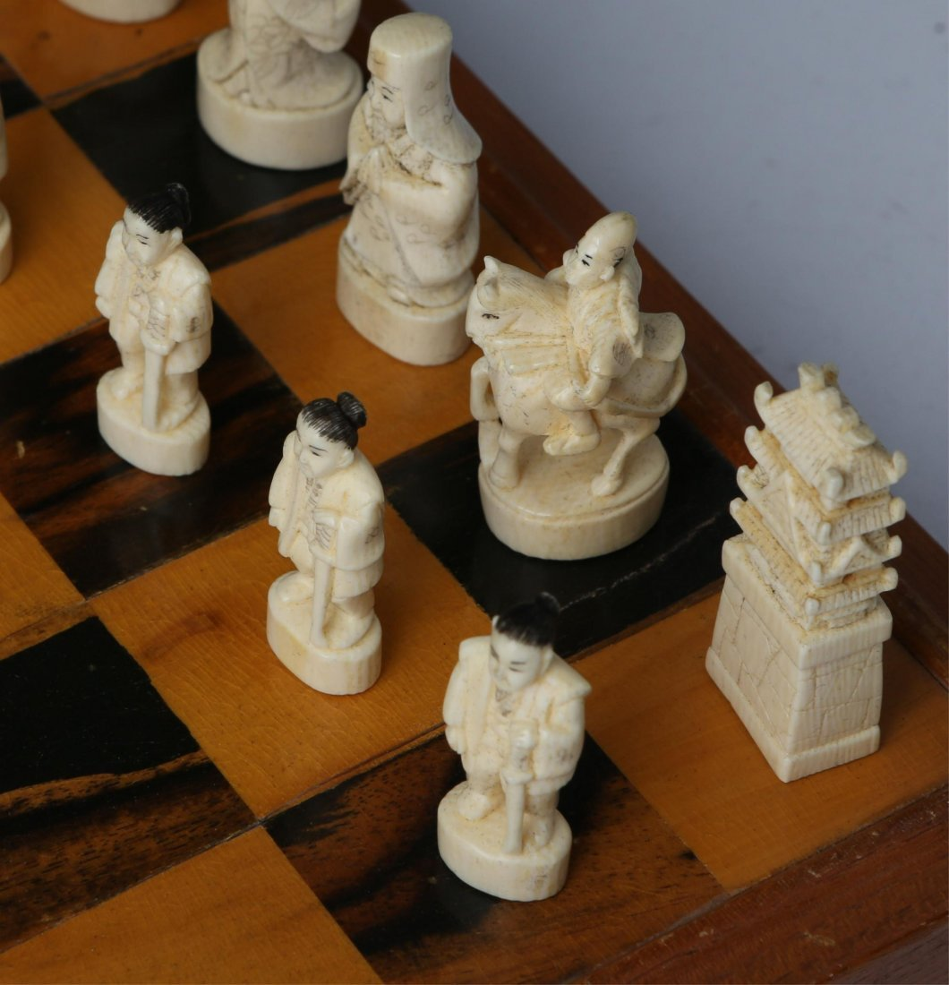 JAPANESE IVORY CHESS SET WITH CASE/BOARD - 6