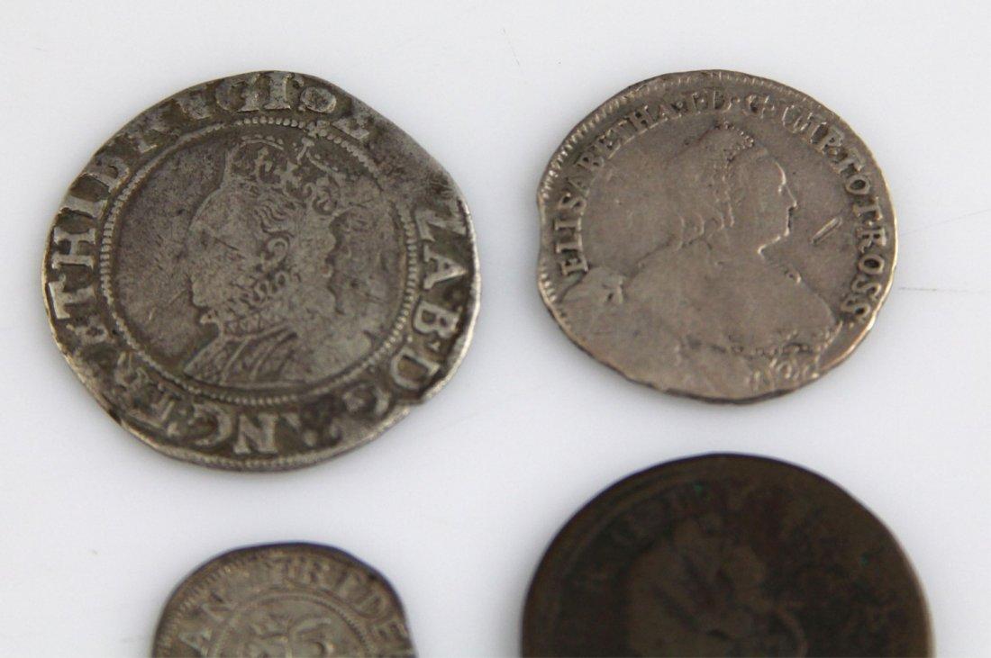 (4) EUROPEAN & RUSSIAN COINS 17TH - 18TH C - 2
