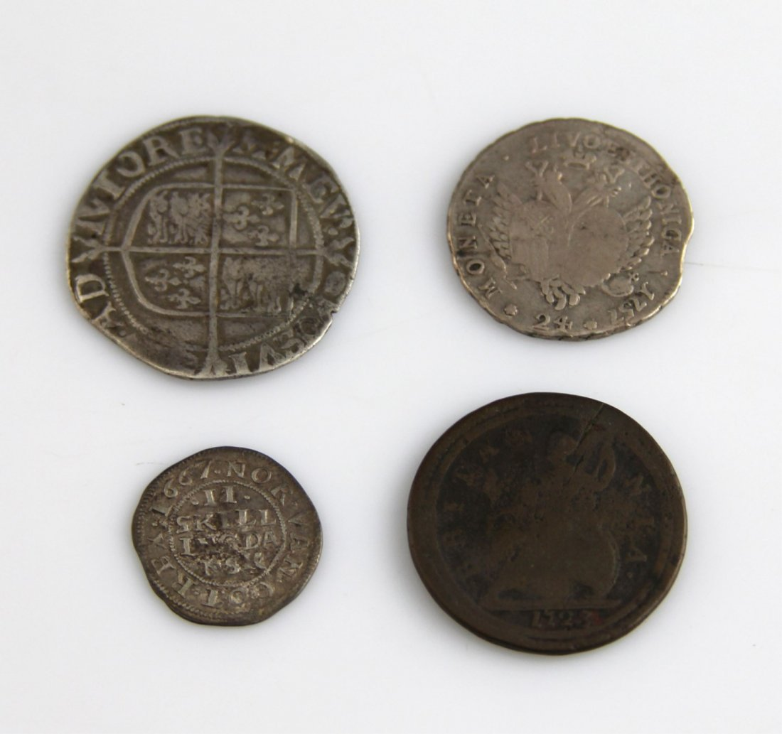 (4) EUROPEAN & RUSSIAN COINS 17TH - 18TH C - 4