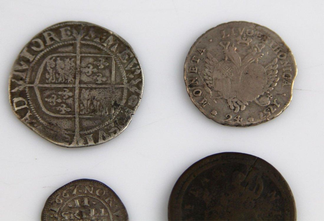 (4) EUROPEAN & RUSSIAN COINS 17TH - 18TH C - 5
