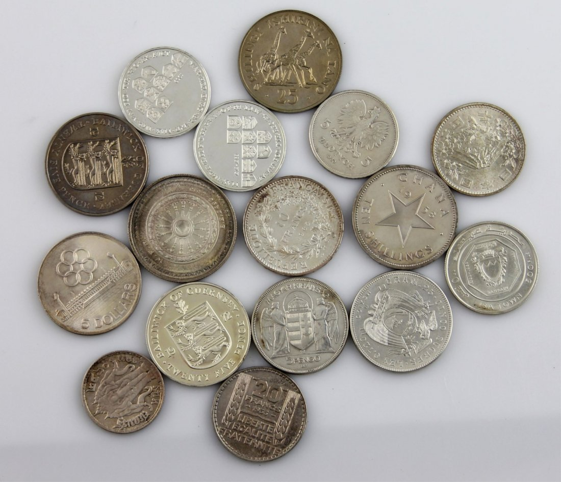 (16) AFRICA EUROPE & ASIAN SILVER COIN LOT - 2