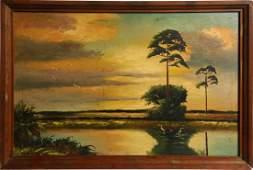 HEZEKIAH BAKER FLORIDA HIGHWAYMEN MARSH SCENE