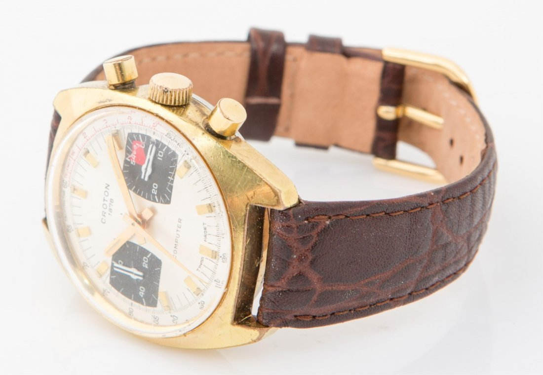 MENS VINTAGE CROTON COMPUTER CHRONOGRAPH WATCH - 2