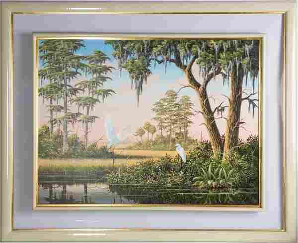 BEN ESSENBURG FLORIDA WILDLIFE LANDSCAPE PAINTING