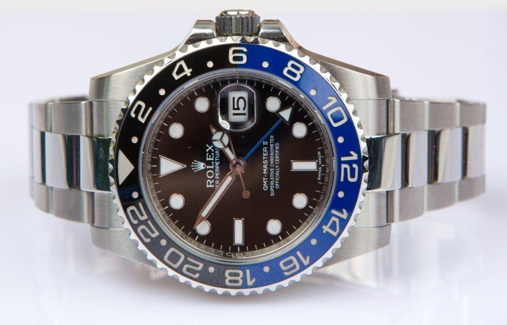 LIKE NEW 2014 ROLEX GMTII BLACK AND BLUE 116710B