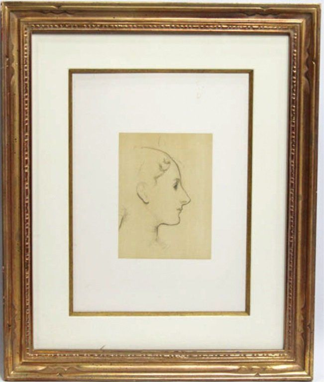 PORTRAIT STUDY ATTRIBUTED TO JOHN SINGER SARGENT