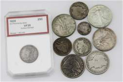 10 MIXED DATE  DENOMINATION US SILVER COINS