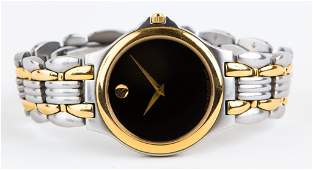 MENS MOVADO TWO TONE MUSEUM WRIST WATCH